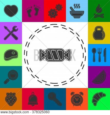 Bonbon Candy - Sweet Candy, Kids Treat Vector Icon. Flat Pictogram - Simple Icon