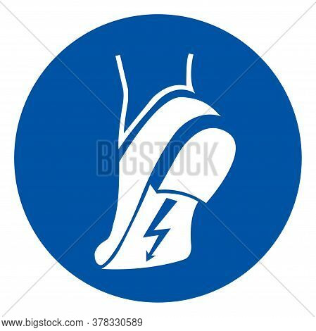 Wear Anti Static Shoes Symbol Sign ,vector Illustration, Isolate On White Background Label. Eps10