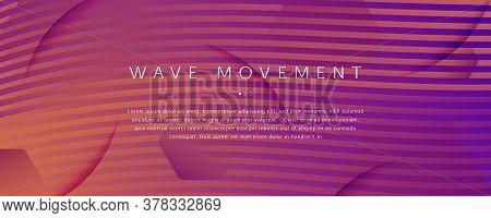 Abstract Fluid Background. 3d Futuristic Liquid. Flow Lines Pattern. Orange Abstract Fluid Backgroun