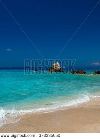 Avali beach in Lefkas island Greece