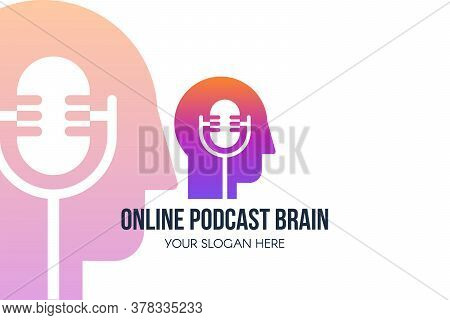 Podcast Online Landing Page Template Web Banner