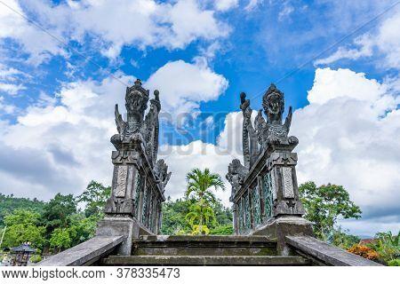 Temple Tirta Gangga palace in Bali Indonesia