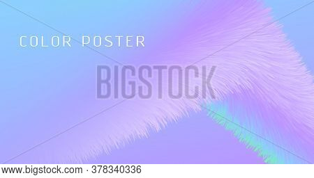 Vibrant Background. Pastel Music Banner. Color Futuristic Pattern. Fluid Abstract Motion. Flow 3d Vi