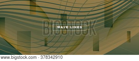 Army Landing Page Design. Abstract Flow Lines Poster. Curve Digital Background. Camo Gradient Illust