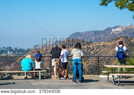 Los Angeles, California - October 09 2018: Los Angeles, California. Hollywood Sign, Famous Landmark
