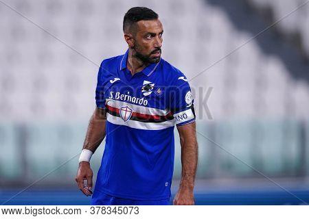 Torino (italy) 26th July 2020. Italian Serie A. Juventus Fc Vs Uc Sampdoria. Fabio Quagliarella Of U