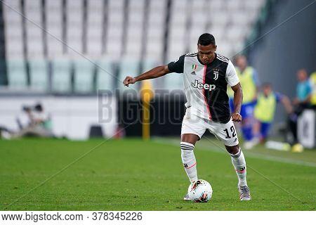 Torino (italy) 26th July 2020. Italian Serie A. Juventus Fc Vs Uc Sampdoria.  Alex Sandro  Of Juvent