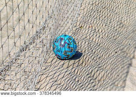 Odessa, Ukraine-july 25, 2020: Beach Soccer Championship Among Amateur Women On Beach. Soccer In San