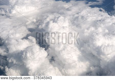 Aerial View Of Cumulus Cloud From Plane