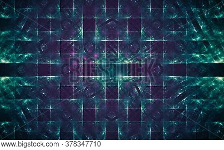 Digital Generated Image In The Form Of Abstract Geometric Shapes Of Various Shades And Colors For Us
