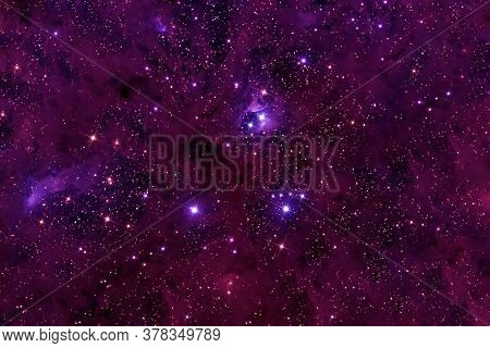 Bright Red Galaxy. Elements Of This Image Were Furnished By Nasa.