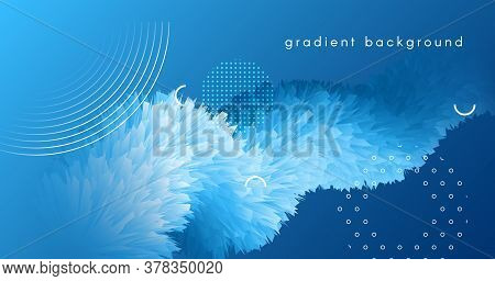 3d Wave Shapes. Flow Flyer. Blue Abstract Template. Color Creative Banner. Vibrant Motion. 3d Wave S