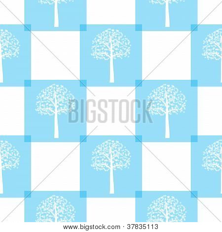 Seamless Winter Tree Pattern