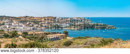 Agia Pelagia Is A Small Town With A Beautiful Beach At Bay Aghia Pelaghia Near Heraklion, Crete, Gre