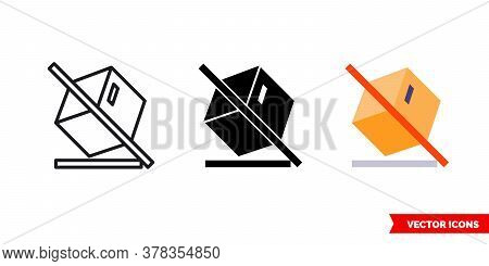 Do Not Tilt Icon Of 3 Types. Isolated Vector Sign Symbol.