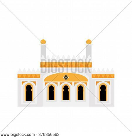 Traditional Mosque Flat Icon. Religious Architecture - Vector