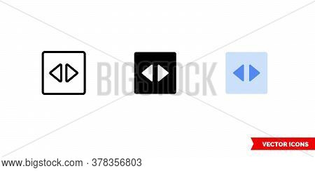 Navigation Pane Icon Of 3 Types. Isolated Vector Sign Symbol.