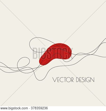 Abstract Curve Twisted Line With Fancy Shapes. Vector Illustration In Modern Minimal Style For Fashi