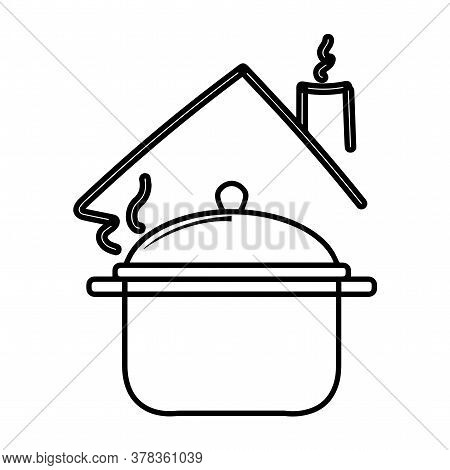 Cooking Pot Icon. Cooking Utensil Icon - Vector