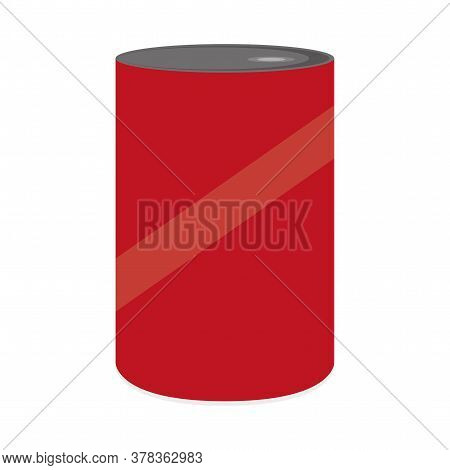 Red Can Icon. Canned Food. Canned Drink - Vector