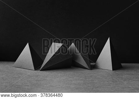Platonic Solids Figures Geometry. Abstract Geometrical Figures Still Life Composition. Three-dimensi