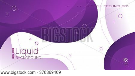 Liquid Background With Gradient Shapes. Fluid Gradient Shapes Composition.