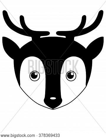 Deer - Vector Silhouette Illustration For Logo Or Pictogram. Silhouette Deer Head - Cute Picture