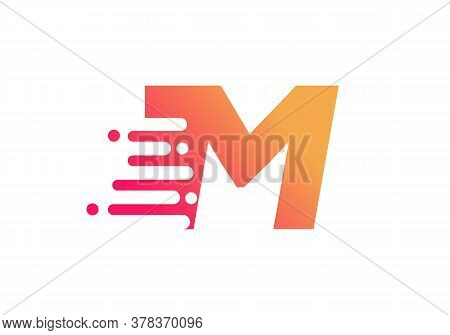 Abstract M Letter Speed Logo Design. Creative Unique Elegant Geometric, Minimal Fashion Brand M Lett