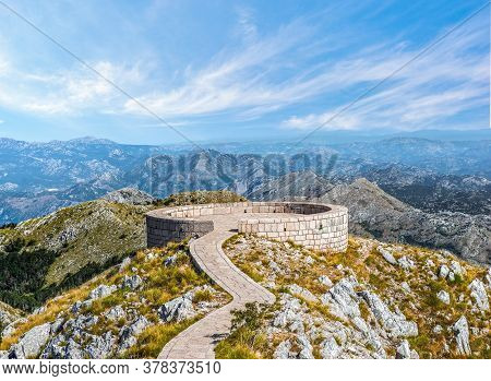 Viewpoint Of Njegos Mausoleum In Mountains Of Lovcen, Montenegro