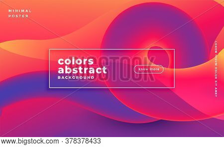 Abstract Colorful Saturated Loop Banner Design Background