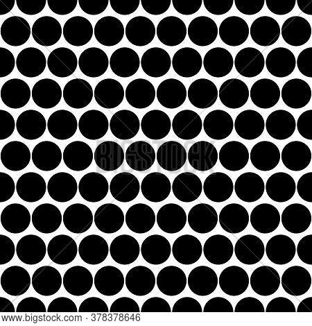 Circles Pattern. Dots Seamless Ornament. Dot Motif. Circular Figures Backdrop. Rounds Background. Do
