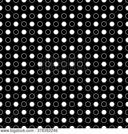 Circles Pattern. Circular Figures Seamless Ornament. Rings Backdrop. Circle Shapes Background. Ring