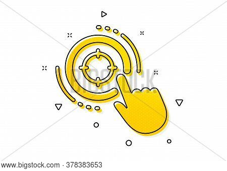 Search Engine Optimization Sign. Seo Target Icon. Click Aim Symbol. Yellow Circles Pattern. Classic