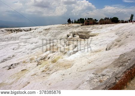 Pamukkale - Natural Travertine Pools And Terraces Of Denizli, Turkey. Geothermal Springs, Stalactite
