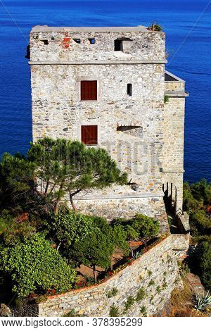 Torre Aurora in Monterosso al Mare is the westernmost of the Cinque Terre, a national park and an Unesco World Heritage Site