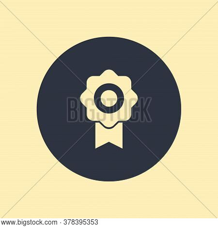 Award Icon Isolated On Round Background In Flat Design