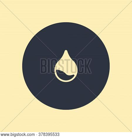 Drop Icon Vector Illustration On Round Background