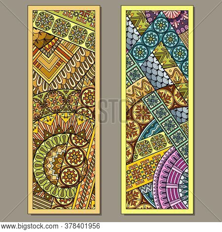 Set Of Two Abstract Decorative Ethnic Bookmarks