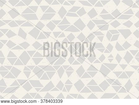 Doodle Seamless Pattern. Triangle Geometric Background. Scribble Texture. Fashion Textile Fabric Or