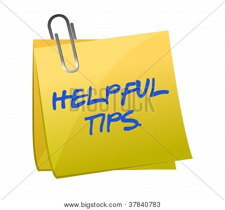 Helpful Tips Post It Illustration Design