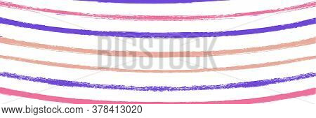 Cool Wavy Zigzag Stripes Vintage Pattern. Dirty Vector Watercolor Paint Lines. Winter Autumn Funky F