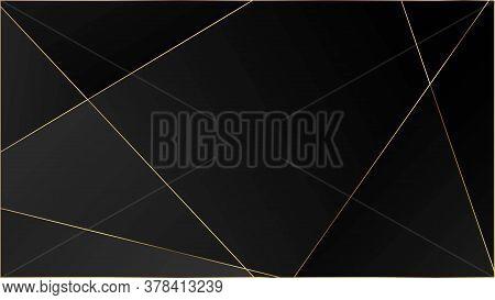 Black Luxury Triangular Pattern. Elegant Dark Platinum Chic Shapes Poster Rich Vip Silver Geometric