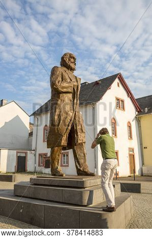 Trier, Germany - July 06, 2018: Monument To Karl Marx In The Center Of Trier