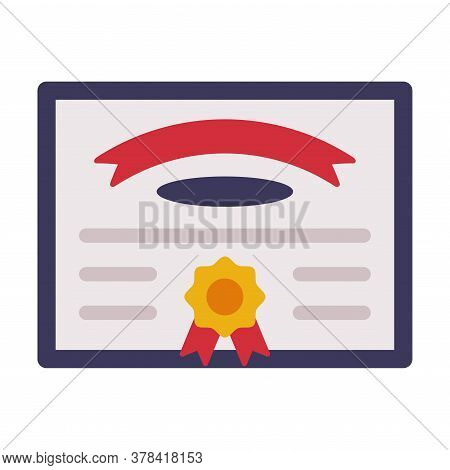 Diploma, Certificate Or Appreciation Of School Children Achievement And Competition Flat Style Vecto
