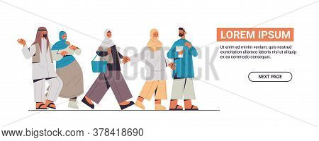 Arabic People In Traditional Clothes Abandoning Social Networks Digital Detox Concept Arab Arab Men