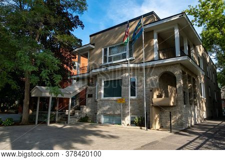 Ottawa, Ontario, Canada - 7/7/2020: The Kenyan High Commission Embassy On Laurier Avenue In Ottawa,