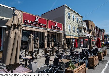 Ottawa, Ontario, Canada - 7/7/2020: The Clocktower Brew Pub In The Byward Market Is One Of Several R