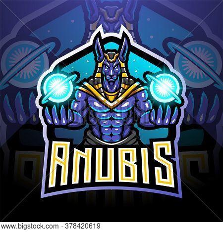 Anubis Esport Mascot Logo Design With Design
