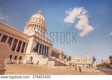 November 26, 2019, Havana, Cuba: Capitol Building In Havana. The Capitol In La Habana Vieja Cuba