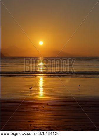 Nascer Do Sol A Beira Mar, Cidade Brasileira